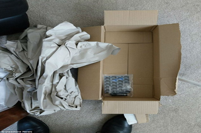 Amazon apologies the customer for sending earplugs into 2 feet long cardboard box