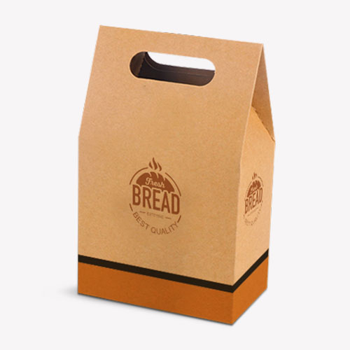 Flat design of Handle Bag Shape Box