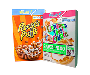 Cereal Boxes solutions online at USA