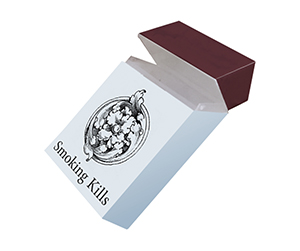 White colour custom made sample of Cigarette Boxes by packaging blue