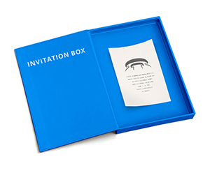 customized Invitation Boxes used to invite someone