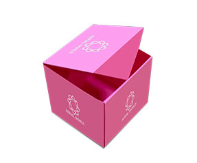 cubic design Paper Boxes made of pink paper