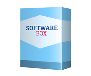 3d view of Software Boxes