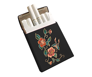 Black colour design of customized Cigarette Boxes and packaging