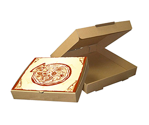 brown Pizza Boxes