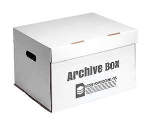 custom cardboard Archive Boxes in white colors