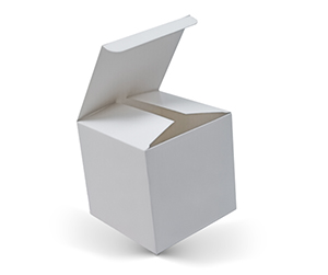 white colour Cube Boxes printing and packaging solutions