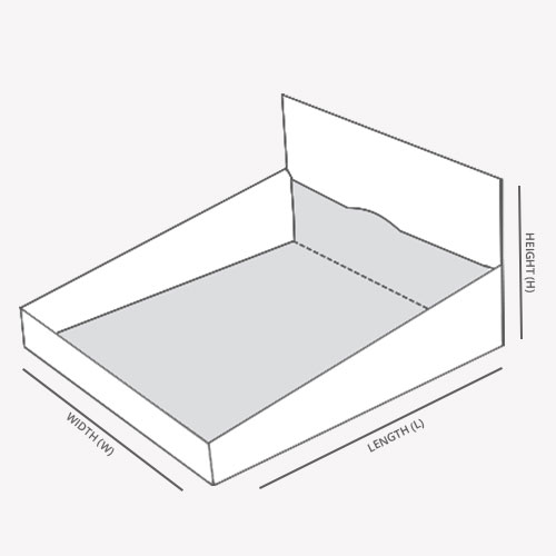 Double Wall with Display Lid template with dimensions