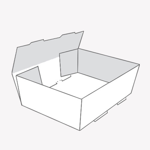 Foot Lock Tray box with dimensions 3d view