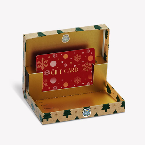 brown colour Gift Card Boxes with emballished items