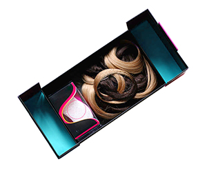 stylish window container Hair Extension Boxes