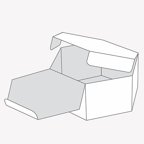open lid of Hexagon Boxes