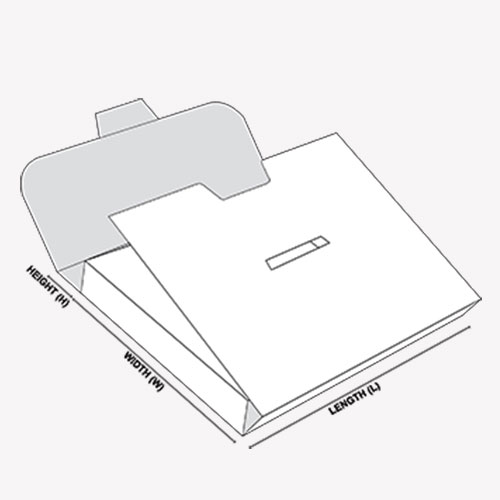 Paper Briefcase template diagram with dimensions