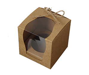Kraft material Pastry Boxes with windows