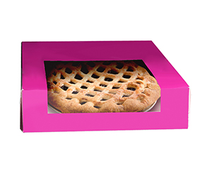 Pie gift boxes with window
