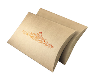 Kraft material Pillow Boxes