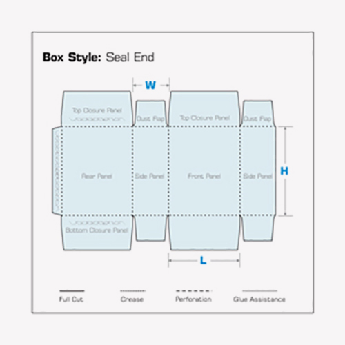 Seal End Boxes 2d flat structure template diagram